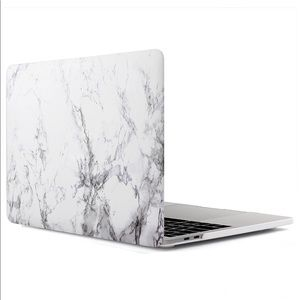 Plastic hard cover marble case for Apple laptop